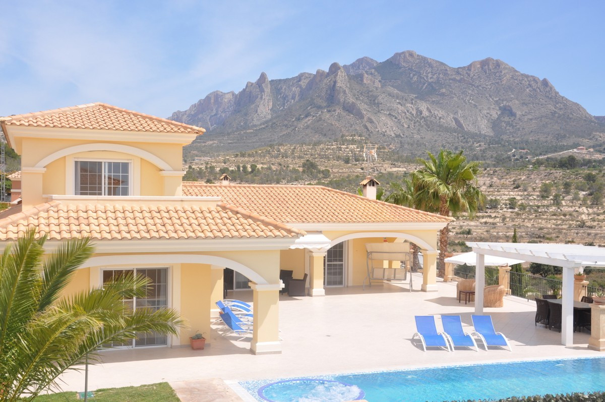 This spectacular, luxurious villa has a large living space spread over 3 floors; the basement, groun, Spain