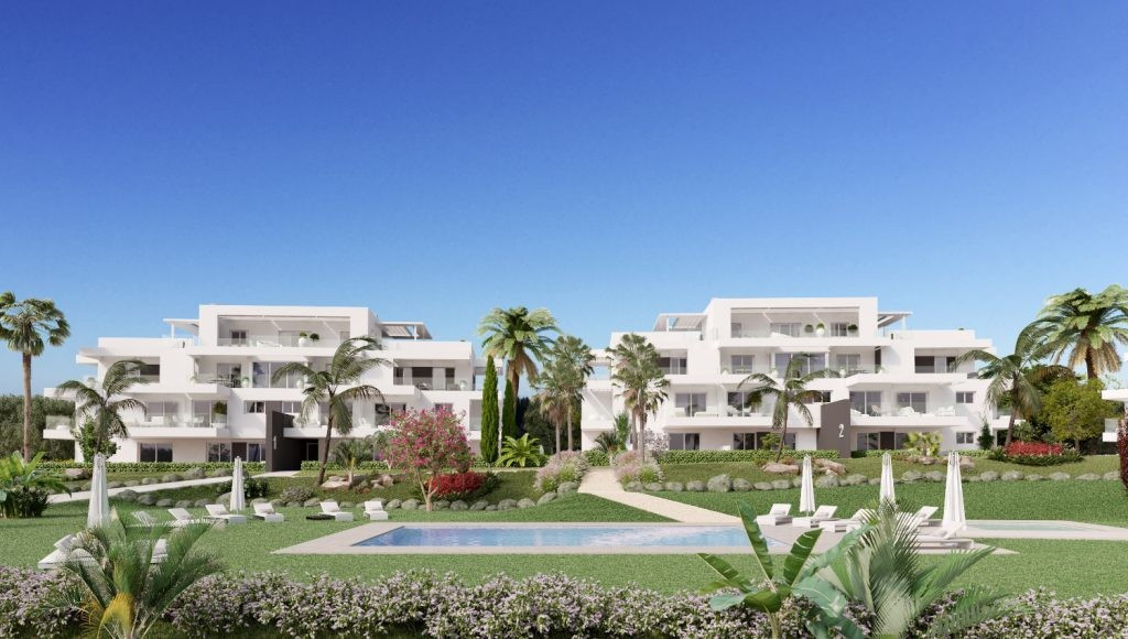 Stunning new apartment with modern and elegant architectural design consisting of 2 bedrooms, 2 bath, Spain