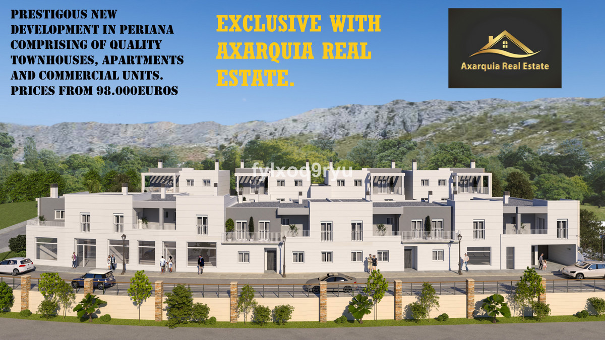 PRESTIGIOUS NEW DEVELOPMENT IN PERIANA COMPROMISING OF QUALITY TOWNHOUSES, APARTMENTS AND COMMERCIAL,Spain