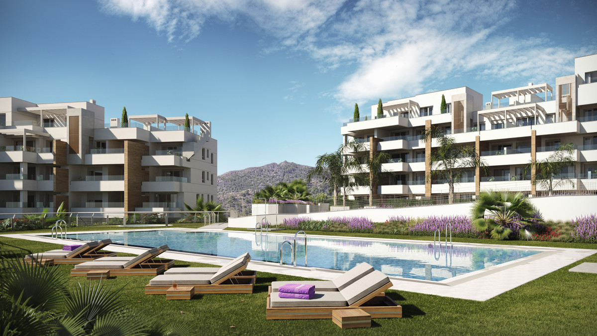 This new development of contemporary modern apartments is currently under construction within the Ca,Spain