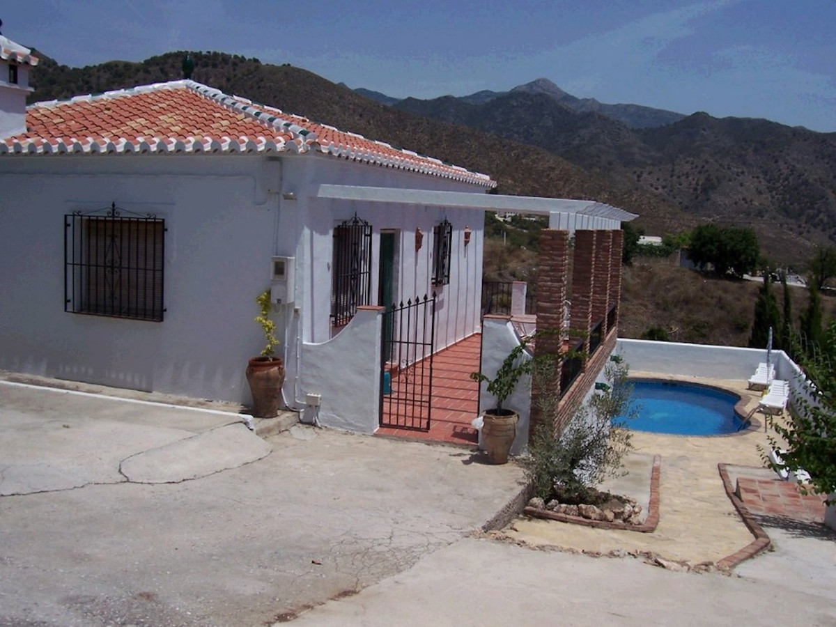 The property features stunning views looking across the green valley over Frigiliana to Nerja and th, Spain