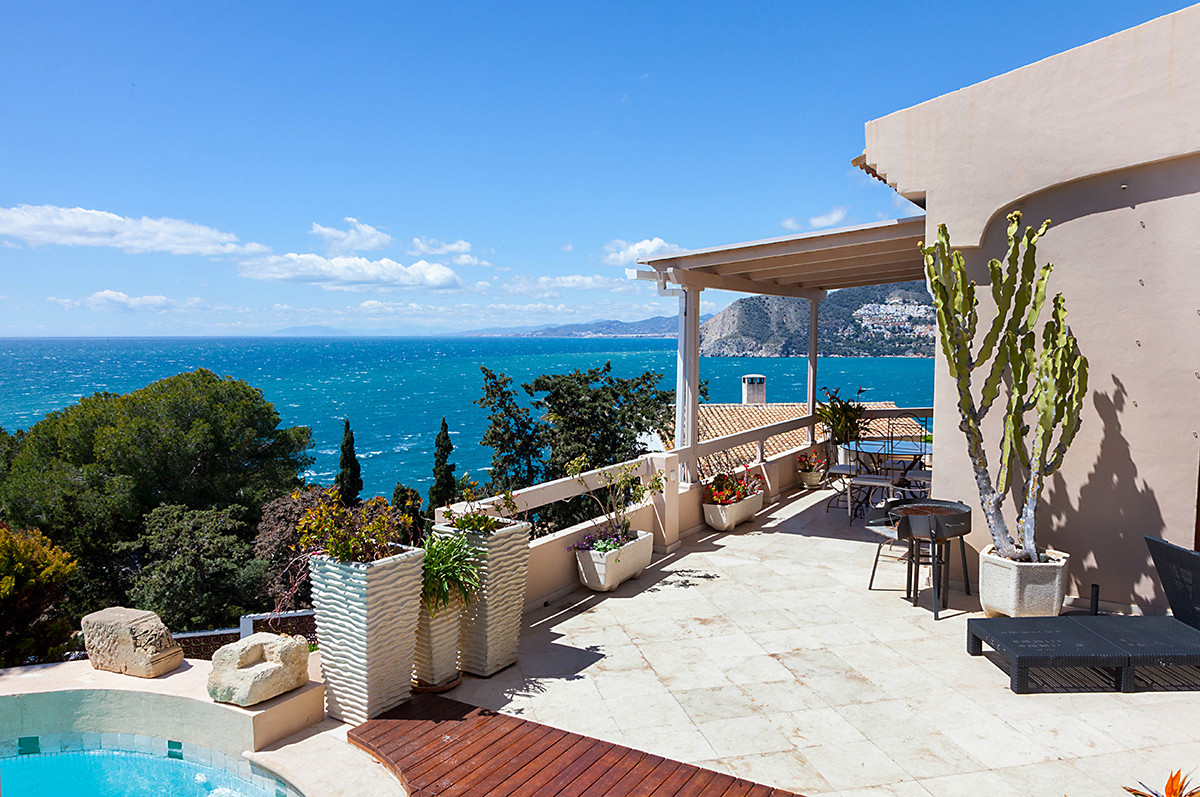 Charming south facing Villa on Punta de la Mona less than a km to La Herradura beach. Spacious main , Spain