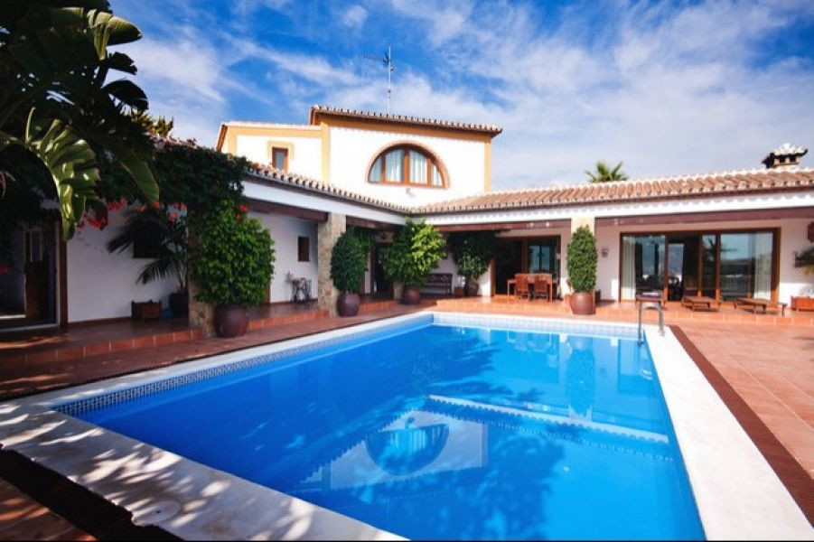 Private villa on the outskirts of Nerja with panoramic views over the mountains and the coast all al, Spain