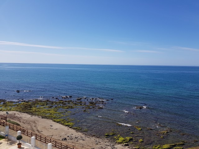 Perfect frontline beach location with spectacular views to the sea. This penthouse offers two bed, t,Spain