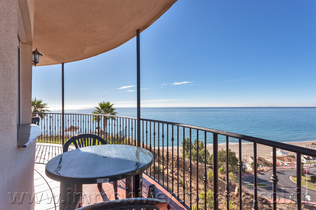 Panoramic view from the terrace of this apartment located on Benalmadena, close to the Fuengirola&#3, Spain
