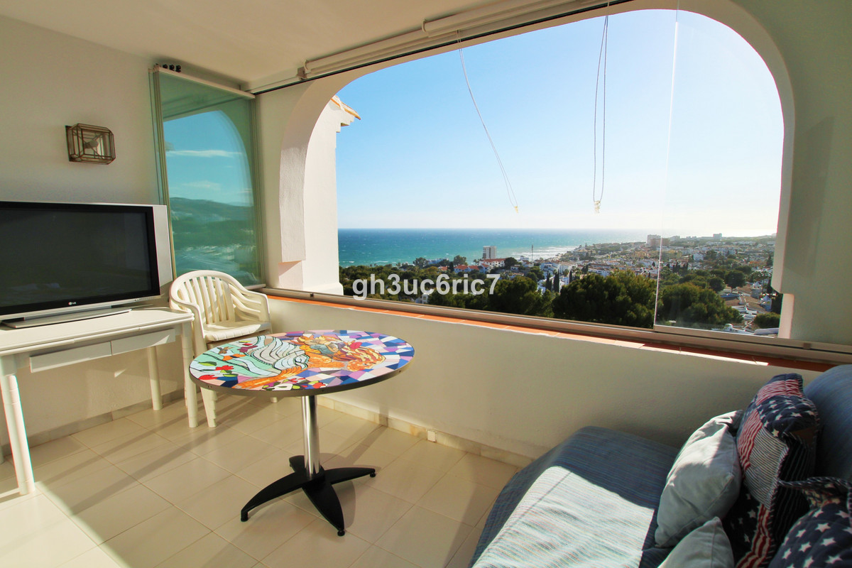A fantastic spacious top floor studio apartment with panoramic sea views in the sought after Miraflo, Spain