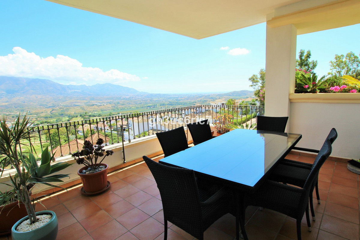 A luxurious 3 bed ,3 bath apartment with spectacular views over La Cala golf course, the mountains a, Spain