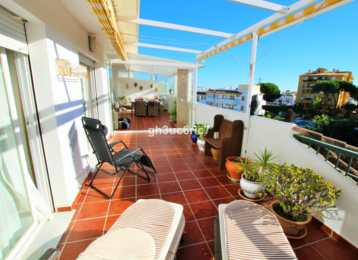A beautiful one level corner penthouse with a large south west facing terrace and an ample north eas,Spain