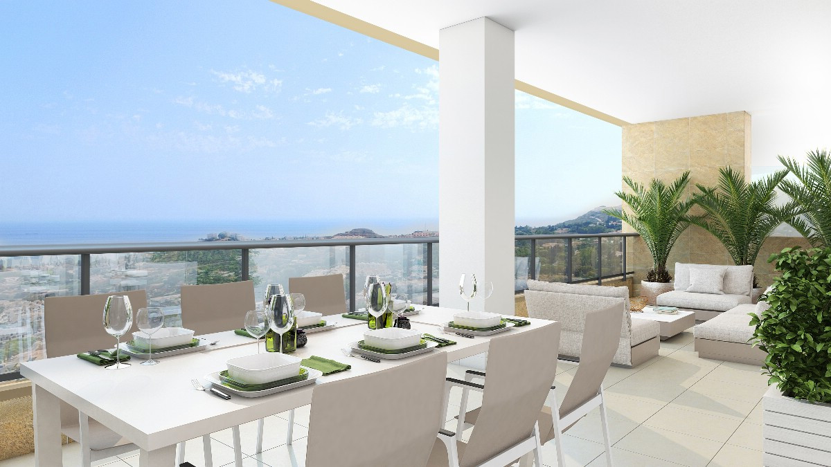 Affordable off plan contemporary development  in the Benalmadena Hills, south orientation and sea vi,Spain