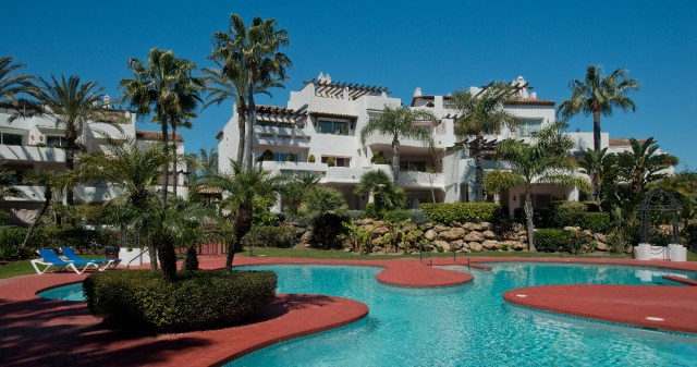 Spacious beachside Puerto Banus duplex penthouse with 3 bedrooms and 3 baths, with 2  large south or, Spain
