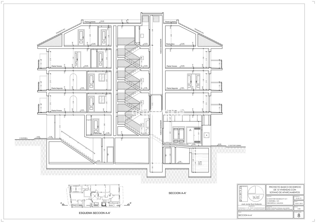 Fuengirola center, currently 2 storey house, sold for the construction of a building. It is on sale , Spain