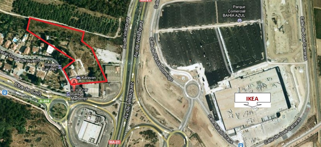 CHURRIANA -  For sale Fenced plot of approximately 10,000m2, for residential and commercial use. Som, Spain