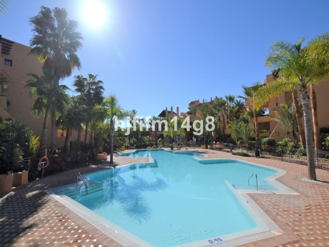 Fantastic two bedroom elevated ground floor apartment in a prime location front line beach in San Pe,Spain