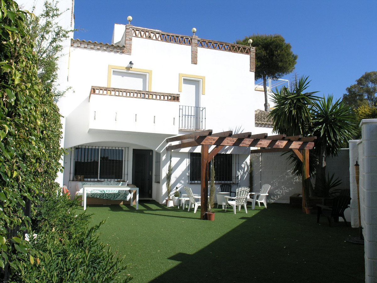 Spacious corner townhouse only 250 meters from the best beach of Marbella. The southeast facing hous,Spain
