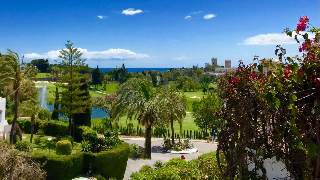 Luxury Home on Aloha Golf Course with Sea, Mountain, Lake and Golf views.   Communal pool, landscape, Spain