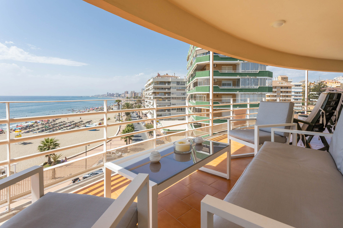 A large front line beach apartment with enormous terrace and stunning sea views!  Excellent location,Spain