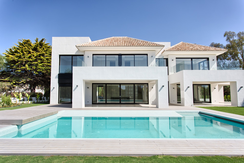 New villa for sale in Casasola, Estepona. Currently under construction this villa is located in the , Spain