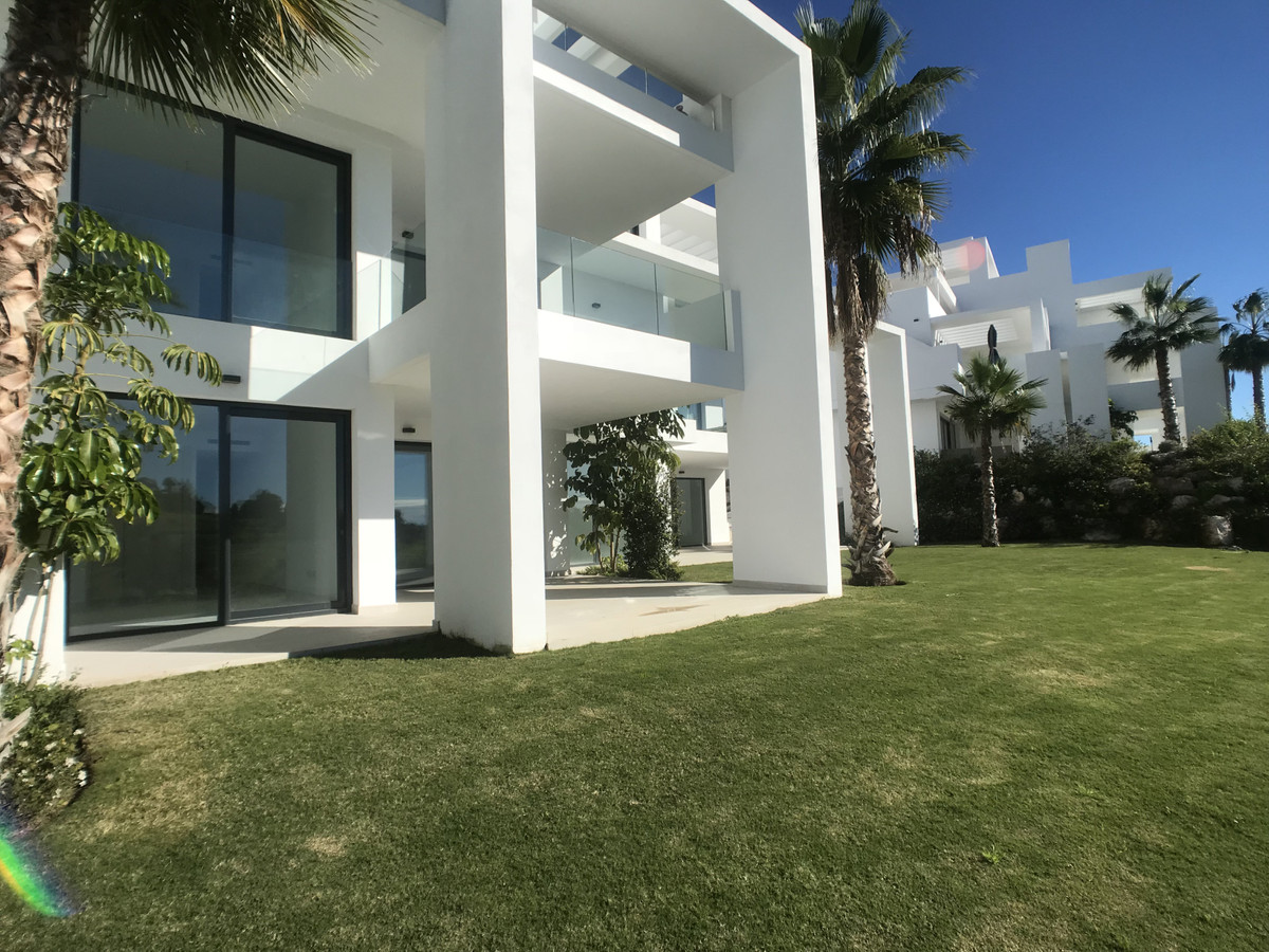 Brand new never lived in two-bedroom ground floor apartment in the luxury urbanisation Atalaya Hills, Spain