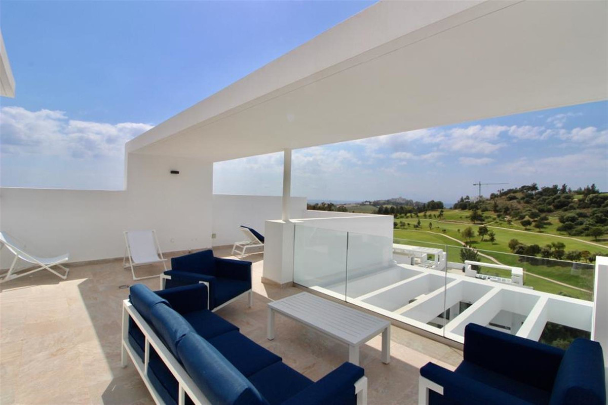 Sought after development! This bright and airy 2 bedroom penthouse with huge rooftop terrace boasts ,Spain
