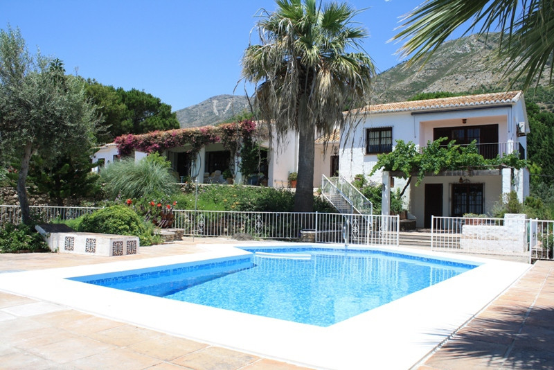 Classical Andalusia style villa in a rural area, but only a stroll from Mijas Pueblo.  In the Urbani, Spain