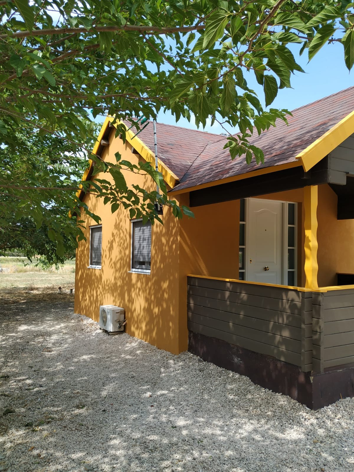 Now this is a great find! 2 properties on one plot. Wooden constructions with pool.   Large house wi,Spain