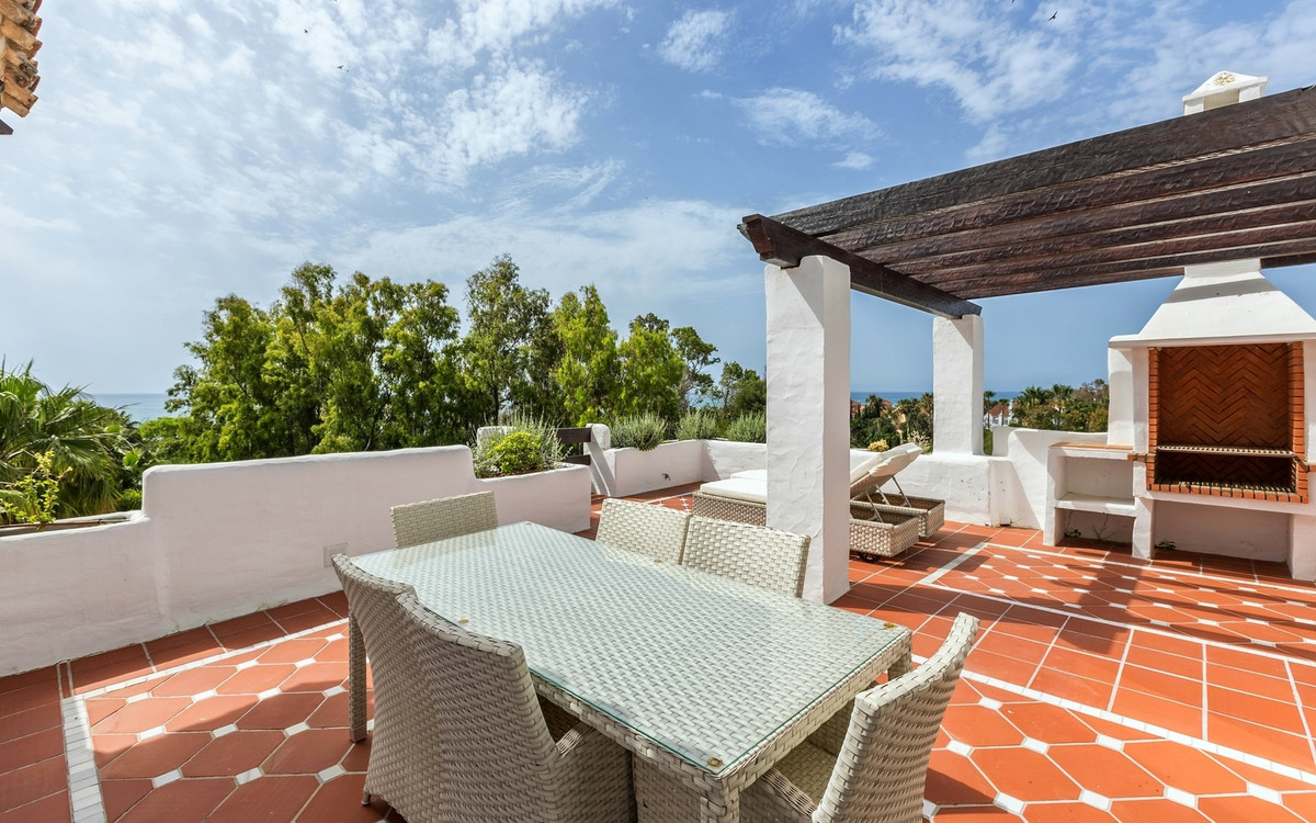 Exclusive, south facing duplex penthouse with partial sea views in one of the most prestigious beach, Spain