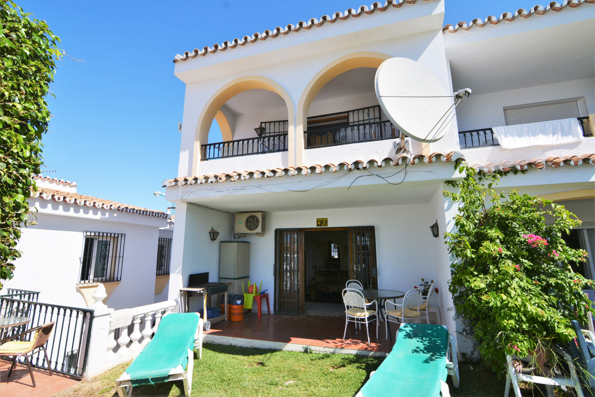 We present this charming house in Mijas Golf  It is a semi-detached house that only touches a wall w,Spain