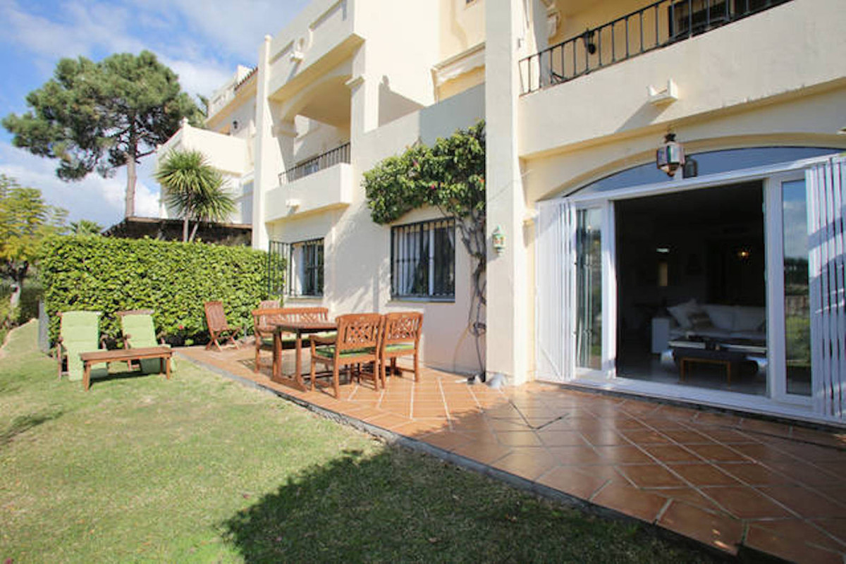 Spacious and bright ground floor apartment in La Quinta Hills, Benahavis, with open views from its w,Spain