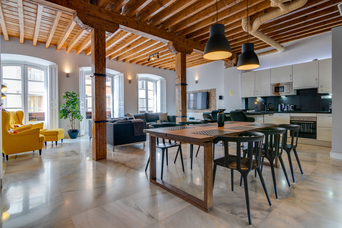 Newly refurbished, sumptuous 3-bedroom apartment in the heart of Malaga.  This unique property offer,Spain