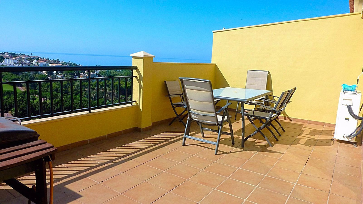 Fantastic south facing penthouse in Torrequebrada with incredible sea and golf views!  It consists o, Spain