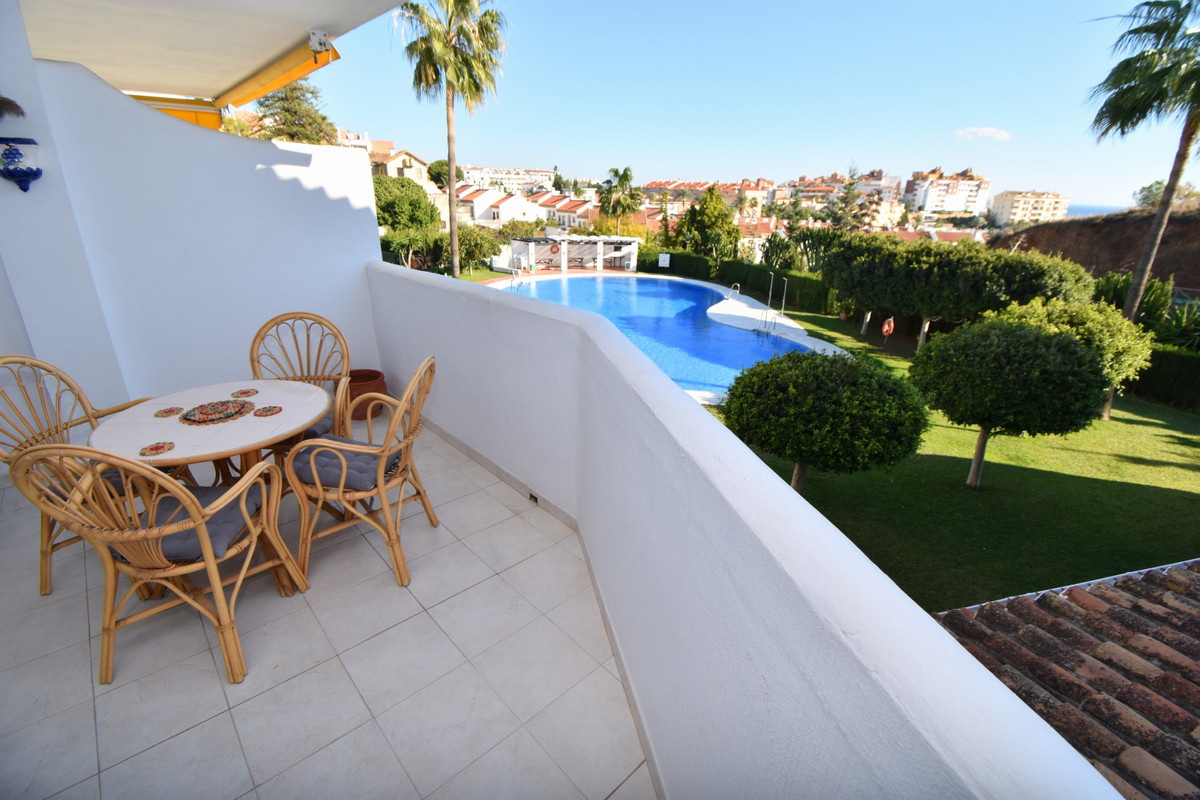 Large 2 bedroom, 2 bathroom apartment with lovely balcony, south facing views (partial sea view) and,Spain