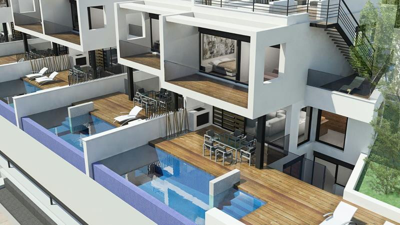 New development of 22 contemporary and tastefully designed four bedroom semi detached houses. Built ,Spain