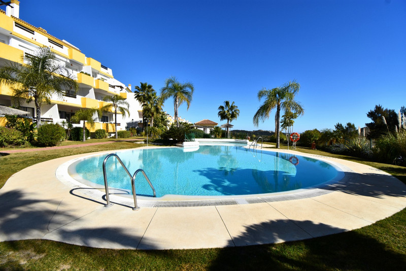 Frontline golf apartment in the lovely Calanova Grand Golf resort! The apartment itself offers beautiful views on a sunny terrace and is fully equipped with comforts like  Air Conditioning (hot and cold) and a fully equipped kitchen! The complex itself is very secure and has beautiful gardens and swimming pool areas!  The apartment is a short drive from la Cala de Mijas and the beautiful sandy beaches of the Costa del Sol! Not far from the apartment are large supermarkets (Aldi / Lidl / Mercadona) and many, many fantastic restaurants and bars! There is also a twice weekly market on at the nearby la Cala de Mijas market ground. The apartment is approximately 30-35 minutes drive from Málaga Airport.  Available to rent year round for short stays of 5 nights and up to several months (at discounted monthly rates). All bed linen is provided, as are bath towels. The apartment is cleaned before and after your stay, ensuring you have zero free hassle but also the flexibility of a self-catering holiday!  VFT/MA/30079