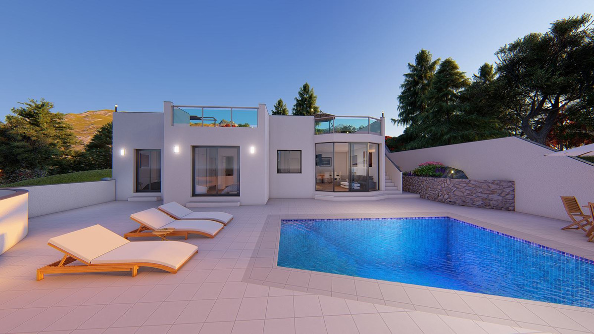 Beautiful new luxury villa of modern construction and on one floor. This Villa is located in an excl, Spain