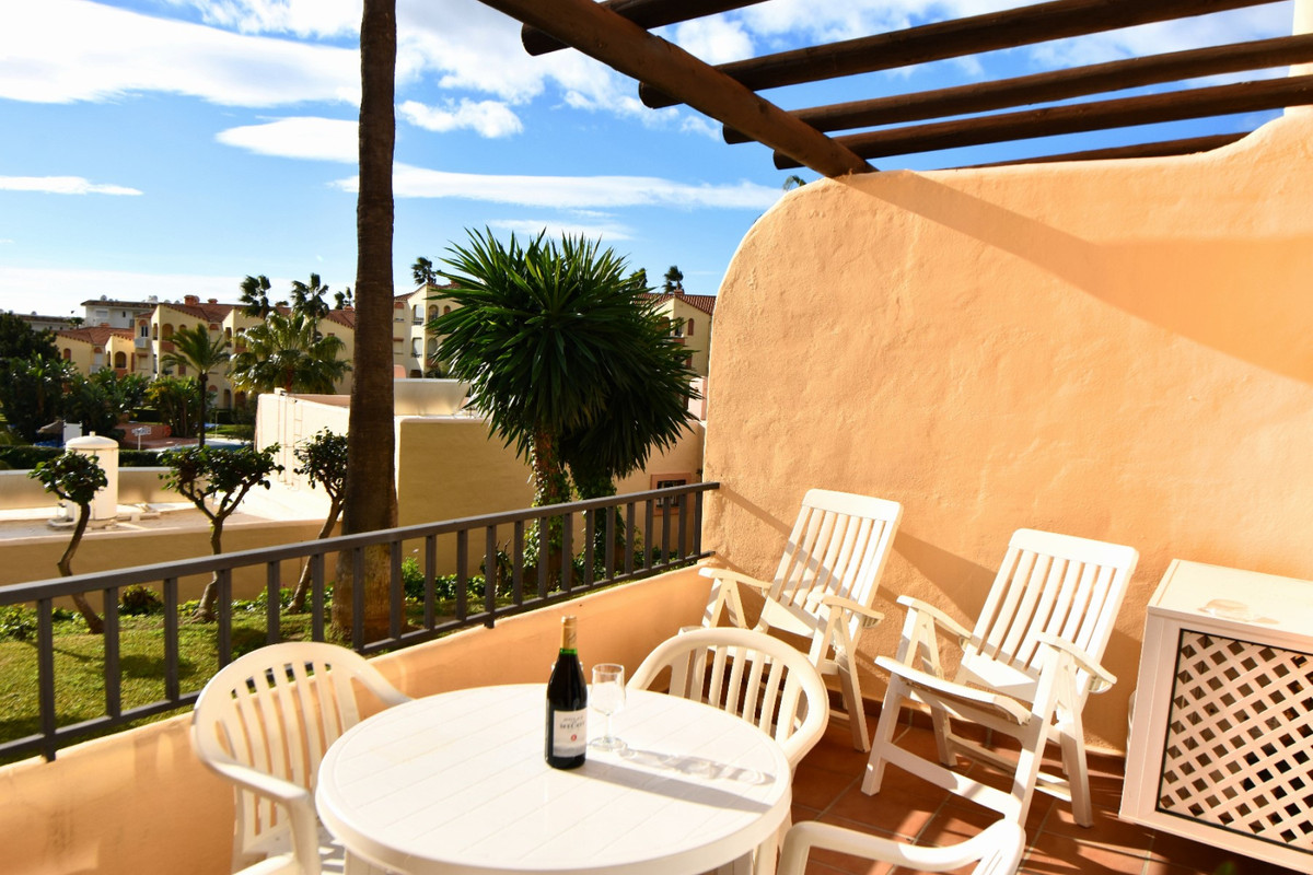 "Modern, spacious studio situated on the popular Club la Costa Marina del Sol resort!  This unit offers air conditioning throughout (heating and cooling), easy parking, private balcony with beautiful sea views, fully equipped kitchen, spacious lounge area and comfortable double bed! The apartment also has WiFi internet and communal television channels.  You have full use of the facilities on the urbanisation which includes multiple swimming pools (there is always a heated pool in Winter months as well), various shops, a bakery, bars (with entertainment on) and several fantastic restaurants! During the summer and school holidays there will be a Childrens Camp celebrated and yes, your children can participate after paying a small extra fee to reception! Outside of school holiday periods and Summer, the childrens club is not available.  There is a small free to use ""train/bus"" service running around the complex, meaning it's easy to get about. The house is located just a few minutes walk from the beach and main bus route between the resort towns of Fuengirola and la Cala de Mijas as well!  **We have 4 studios in this same block of Club la Costa, so if you are a larger group, up to 16 guests can be accommodated (recommended 8 adults 8 kids) at the same time, in the same place!! We also have two 4 bedroom houses available for rent in the same section of Club la Costa around the corner (using the same pool) and another 1 bedroom apartment a couple minutes walk away. We have accommodation therefore for groups of up to 36 guests on Club la Costa within a couple minutes walk of each property. Note that this is availability dependent as each unit is also rented individually for different periods.**"