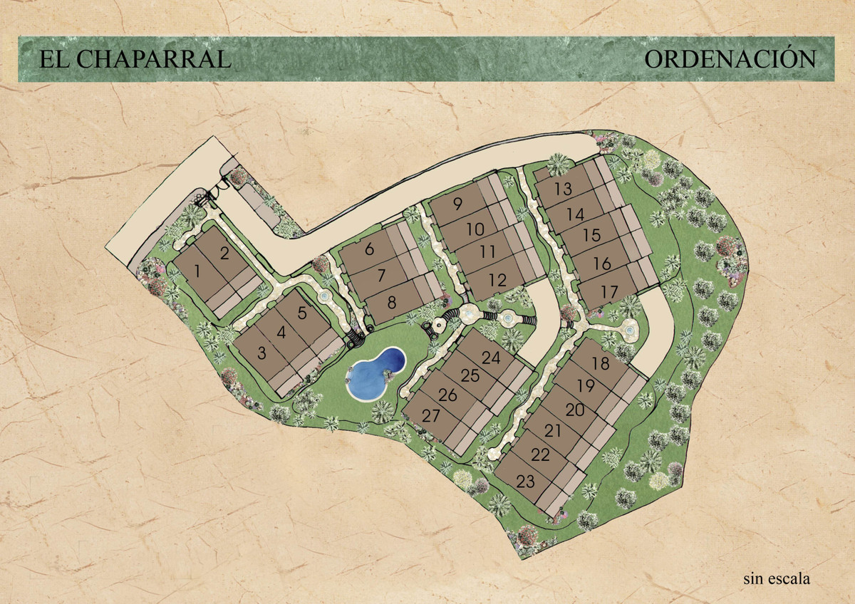 Investment opportunity Front line golf el Chaparrel  License approved place for 27 townhouses  Plot  Spain