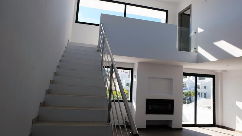 Contemporary style terrace house with private pool and panoramic views of sea and mountains.  This h, Spain