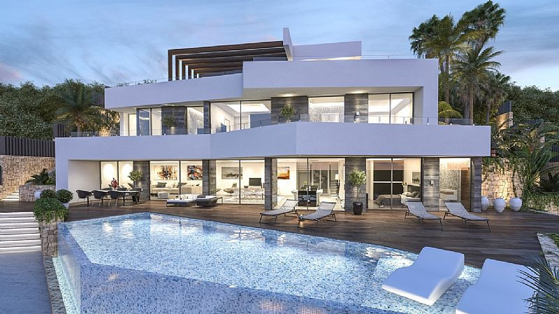 Sea View, Contemporary & Luxurious Detached Villa, Benissa, Costa Blanca. (Very near completion), Spain