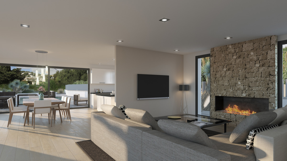 Stunning, new and contemporary 5 bedroom villa in Moraira.  Brand new construction located in Morair,Spain