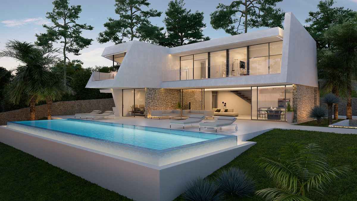 Elegant, Sea View, Contemporary, Mediterranean-style Villa, Moraira, Costa Blanca. 4 Bedrooms, 6 Bat, Spain