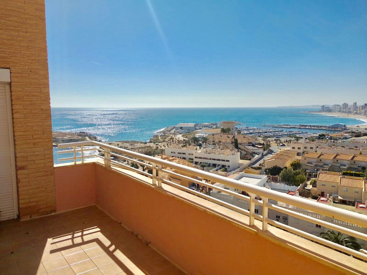 Spacious 2 bedroom apartment (originally 3) in first line in El Campello with incredible views.  Thi,Spain