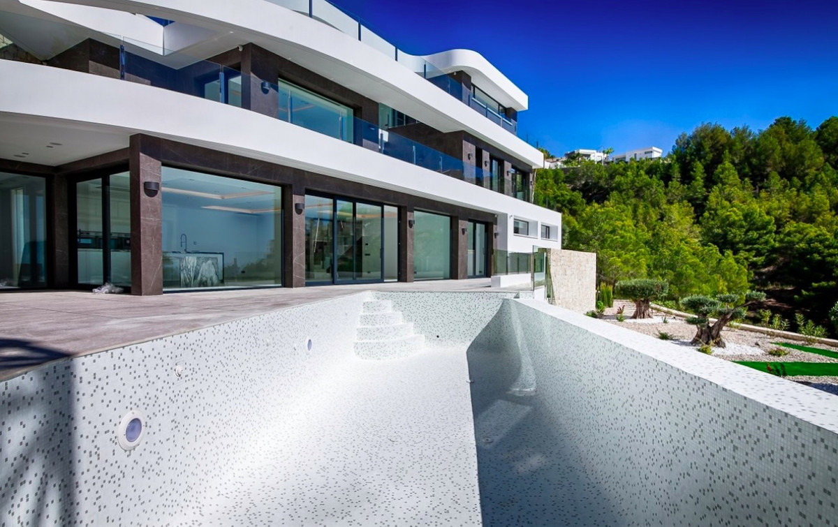 Luxurious, modern villa with open sea views in Benissa, Costa Blanca. 4 Bedrooms, 5 Bathrooms, Built, Spain