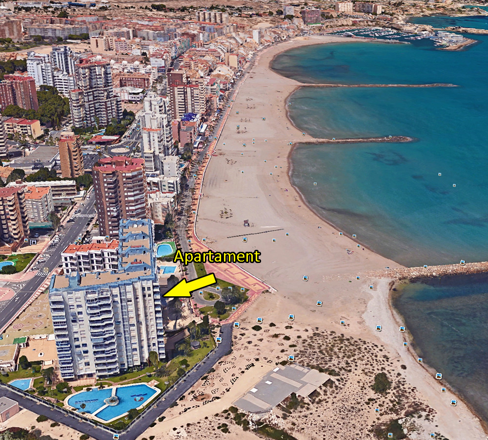 Luxurious, sea view, 3 bedroom, beachfront apartment in El Campello.   Recent fully renovated, very ,Spain