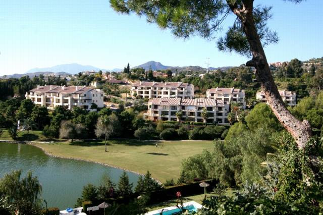 Fantastic front line golf ground floor corner apartment with direct access from the terrace to the c, Spain