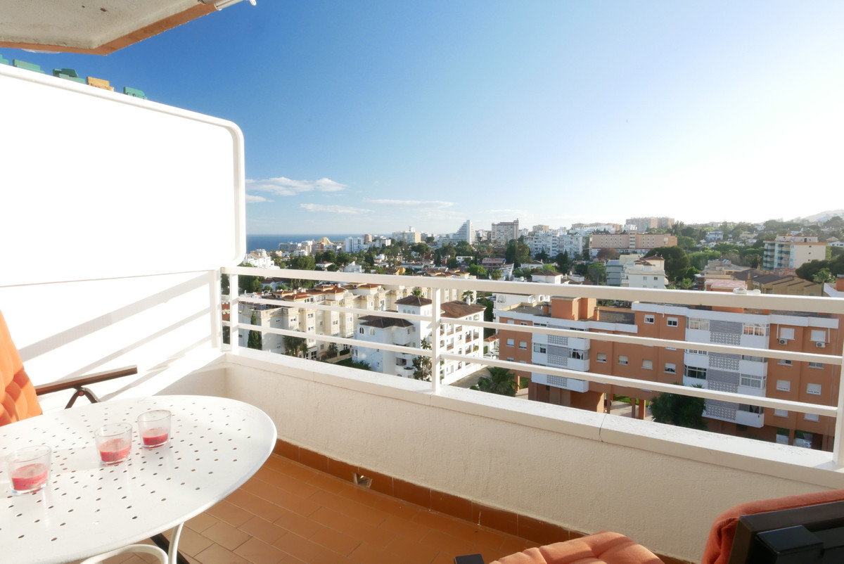 Great studio apartment with nice sea views in a very convenient location just 7 minutes walk to the , Spain