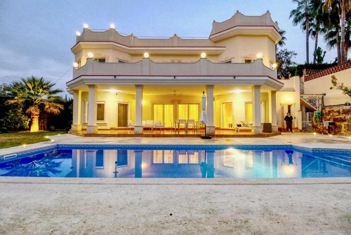 A much larger than average, private villa in El Rosario Marbella.  This villa has a large garden a d,Spain