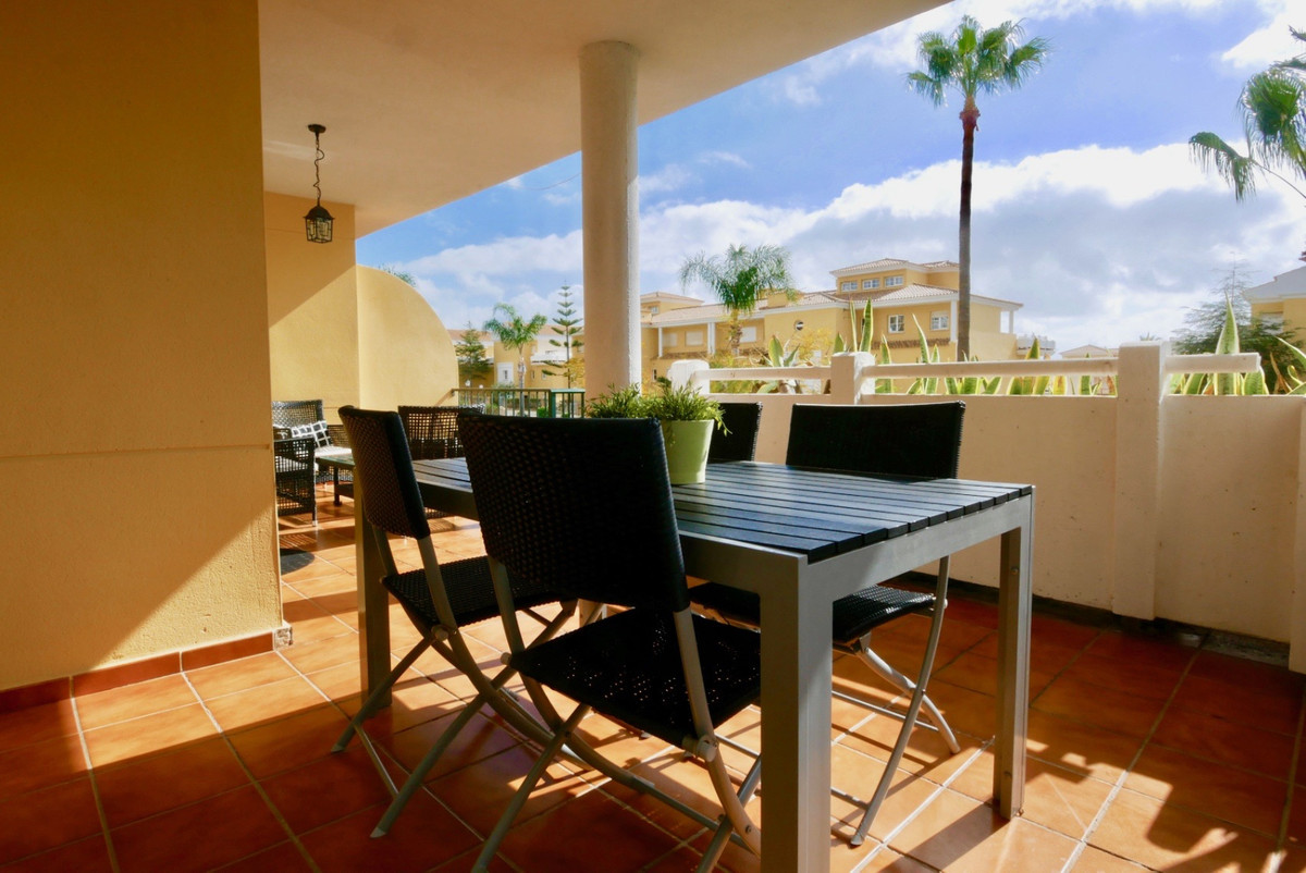 A super elevated ground floor apartment with a good sized terrace and elevated private garden area. , Spain