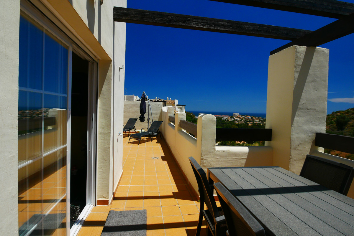 This is a very attractive penthouse apartment in a gated complex with a large 77m2 terrace and great, Spain