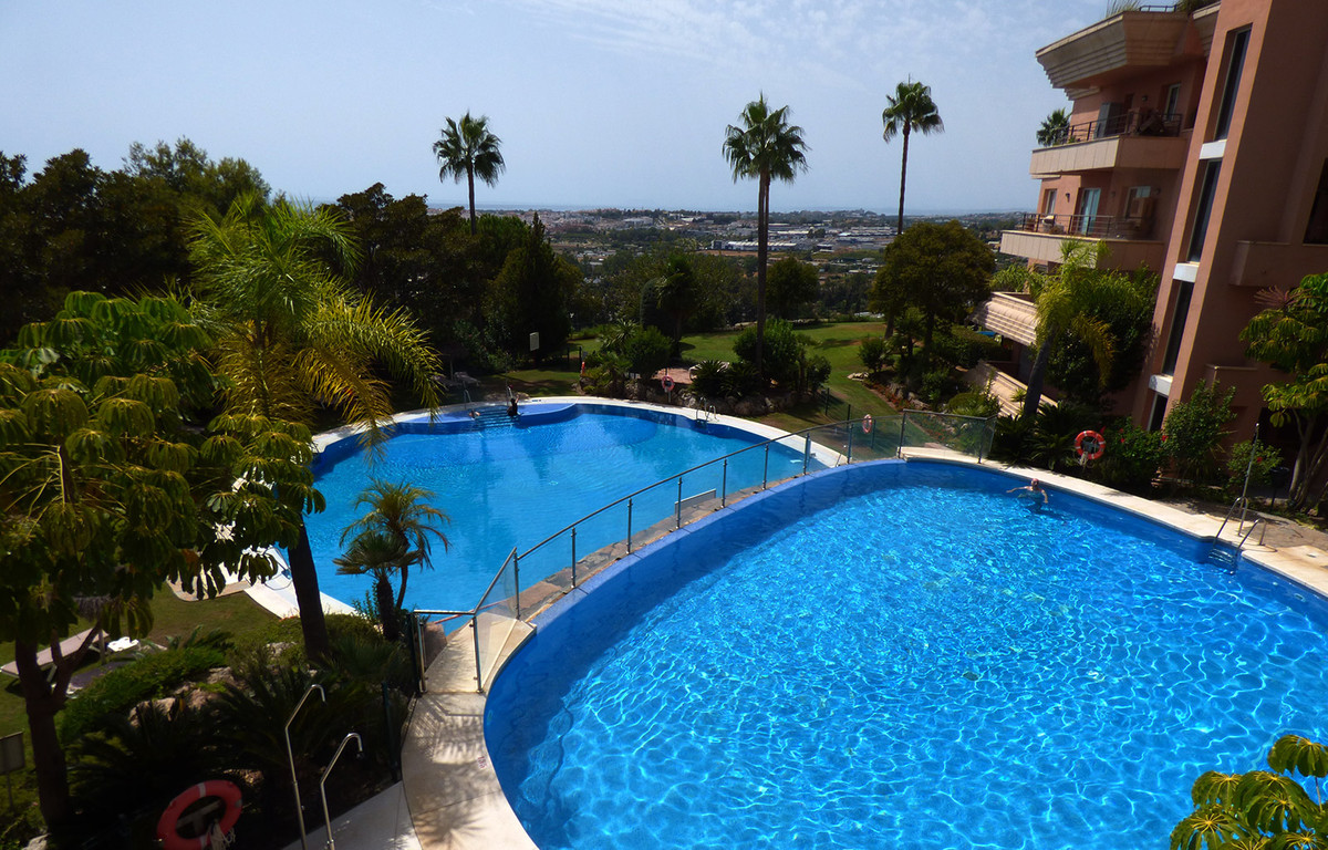 West facing Penthouse with excellent views of the sea, valley, mountains, community garden and four ,Spain