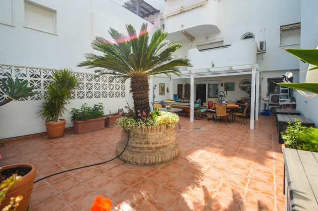 Apartment with large terrace plus large patio located just 250 meters from the beach of Carihuela an, Spain